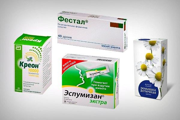 Препараты для улучшения пищеварения и для предотвращения газов